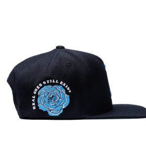 R Crown Black & Carolina Blue Hat