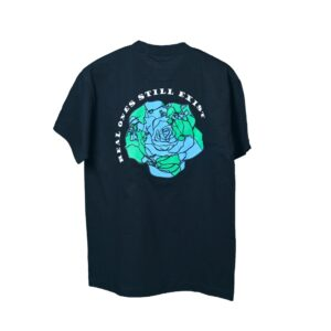 ROSE. Logo Puff Print Tee Black