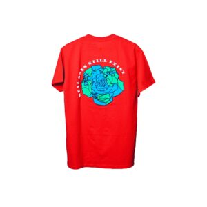 ROSE. Logo Puff Print Tee Red