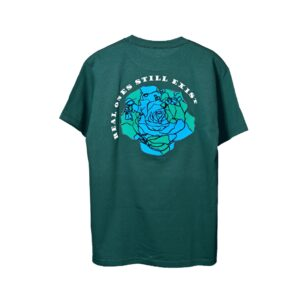 ROSE. Logo Puff Print Tee Green