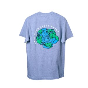 ROSE. Logo Puff Print Tee Grey