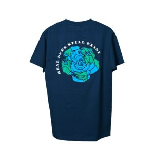 ROSE. Logo Puff Print Tee Navy Blue