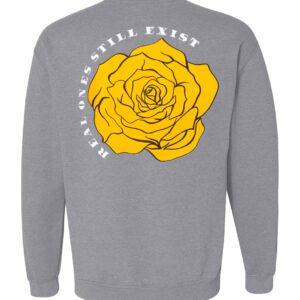 ROSE. Patch Crewneck Sweatshirt   Grey Multi