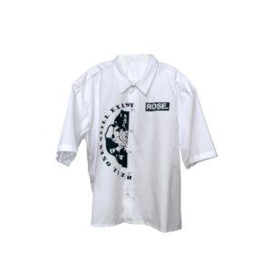 Globe ROSE. Bowling Shirt   White